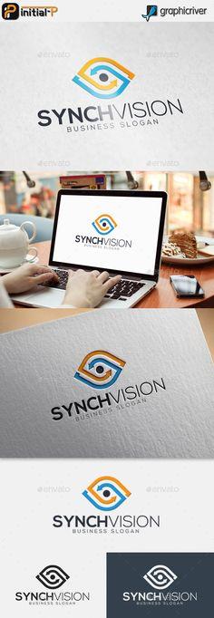 Synch Vision - Eye Logo Más
