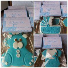 Biscotti decorati in pdz per battesimo.