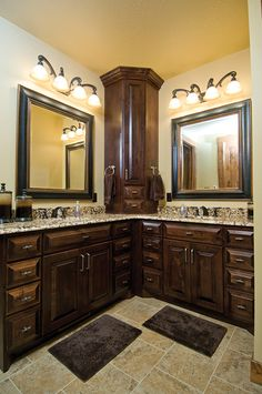 His and Hers bathroom done right.