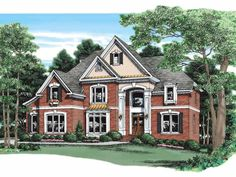 New American House Plan with 3751 Square Feet and 5 Bedrooms from Dream Home Source | House Plan Code DHSW09353 exterior