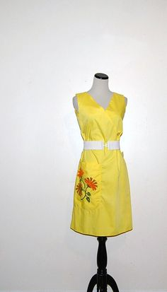 60s Yellow Dress by CheekyVintageCloset on Etsy, $34.00