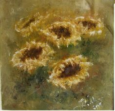 flowers-sunflower -wealth symbol of prosperity oil painting on canvas (50/50) - to sale 550 Euro