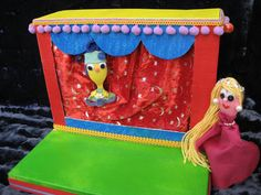 Shoebox (or any box) puppet theater