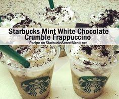 Starbucks Mint White Chocolate Crumble Frappuccino #StarbucksSecretMenu Delicious! Recipe: http://starbuckssecretmenu.net/starbucks-secret-menu-mint-white-chocolate-crumble-frappuccino/