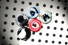 Alfred Hitchcock One Inch Pinback Button Set by ThereWillBeButtons