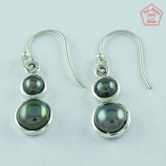 Pearl Stone 925 Sterling Silver Fashionable Design Earrings E2868 #SilvexImagesIndiaPvtLtd #DropDangle
