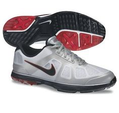 474712bb405c1 NIke Golf Lunar Ascend Golf Shoes 2013 - White Black Action Red
