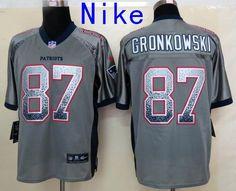 2013 New Nike New England Patriots  87 Rob Gronkowski Elite Grey NFL Drift  Fashion Jerseys fb8b2a1ab