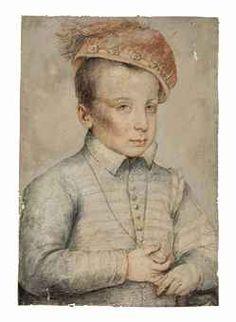 François Clouet (Tours circa 1515-1572 Paris)  Portrait of a boy, possibly Henri de France