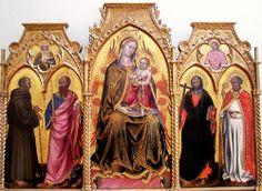 Taddeo di Bartolo, Vierge à l'Enfant entre saint Gérard, saint Paul, saint André et saint Nicolas (Musée de Grenoble)