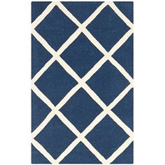 Safavieh Chatham Collection CHT720C Handmade Dark Blue and Ivory Premium Wool Area Rug 2 x 3 >>> You can get additional details at the image link.