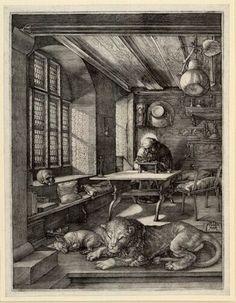 Albrecht Dürer, Hieronymus im Gehäus, 1514 © Albertina, Wien
