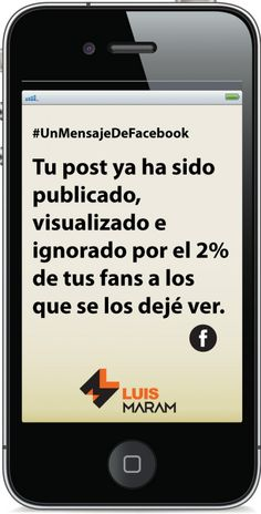 ¿Por qué mis fans de Facebook no ven mis posts y qué hago ahora? http://www.luismaram.com/2016/04/20/por-que-mis-fans-de-facebook-no-ven-mis-posts/
