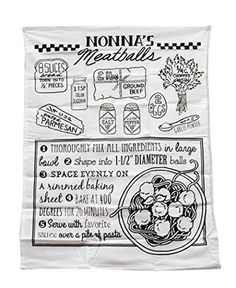 Meatball Recipe Linen Towel
