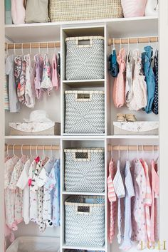 Custom Nursery Closet Organizer on a Budget