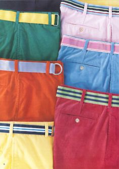 I really like the look of all the colored shorts/pants this year!