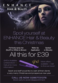 hair salon christmas advertising flyers - Google Search