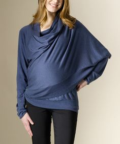 Take a look at this Blue Gray Maternity Open Cardigan on zulily today!