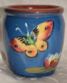 Vintage Longpark Torquay Pottery Butterfly Jar Vase Pot Ceramic Painting, Motto, Stones, Mexican, Butterfly, Pottery, Jar, Ceramics, Glass