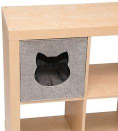 Felt Cat Den Shelves Foldable Dual-Colour Reversible Cushions 33 x 33 x 33 cm