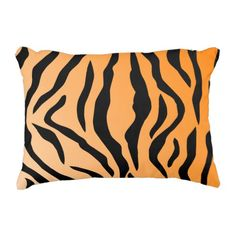 Faux Tiger Print Decorative Pillow