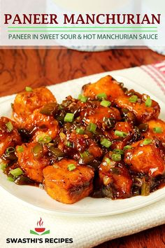 Paneer manchurian is a Indo chinese appetizer made with fried paneer & manchurian sauce. Manchurian dishes from Indo chinese cuisine are a favorite among many. Gobi manchurian, mushroom manchurian, veg manchurian and chicken manchurian are some of the most known varieties. Gobi Manchurian, Manchurian Recipe, Indo Chinese Recipes, Indian Food Recipes, Ethnic Recipes, How To Make Paneer, Paneer Dishes, Paneer Tikka, Routine Chart