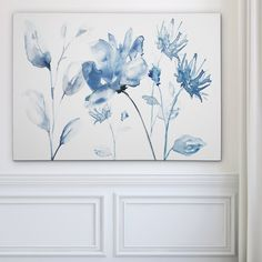 'Translucent Blues II' Acrylic Painting Print Multi-Piece Image on Wrapped Canvas Pond Painting, Blue Painting, Painting Prints, Watercolor Paintings, Image Bleu, Hydrangea Painting, Canvas Online, Blue Walls, New Wall