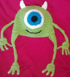 Monsters Inc Mike Wazowski Beanie/ Crochet