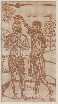 Schemi per il filet: Battesimo di Cristo