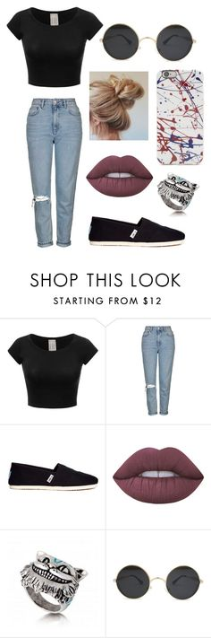"""""""Untitled #306"""" by fashion-with-dudette on Polyvore featuring Topshop, TOMS and Lime Crime"""