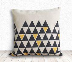 Pillow Cover Geometric Pillow Geometric Pillow by 5CHomeDecor