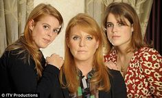 Princess Beatrice, Princess Eugenie and their mother, Sarah Ferguson.