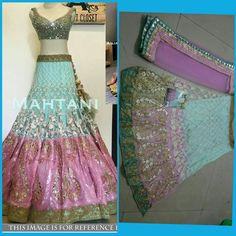 *Designer Replica Lehenga* *RATE :- 2275/-* DUPATTA -  NAYLON  MONO NET LEHENGA -  NAYLON  MONO NET BLOUSE -  BANARASI PEPAR WORK INNER  - SATIN WORK -  THREAD  MULTY  FANCY WORK TYPE - LAHENGA