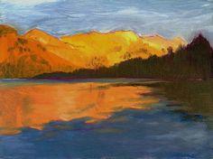 New  YOSEMITE LAKE An Original Fine Art by AlanKrugFineArt on Etsy, $300.00