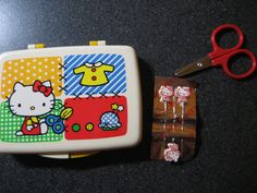 Vintage 1976 Sanrio Hello Kitty Sewing Travel Kit by ByKristianne, $35.00