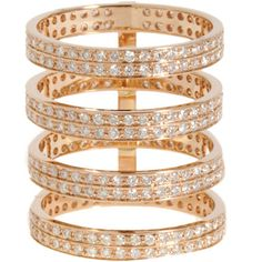 Repossi Rose Gold & Diamond Berbère Ring at Barneys.com