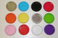 12 kleuren bottlecaps voor 26 mm flatback | Bottlecaps | gezien bij www.pippikokel.nl