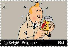 Belgian Tintin stamp
