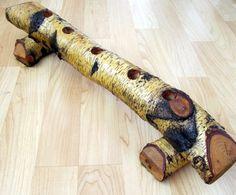 Vintage Birch Log Candle Holder...Holds 5 Taper Candles...Handcrafted. $20.00, via Etsy.