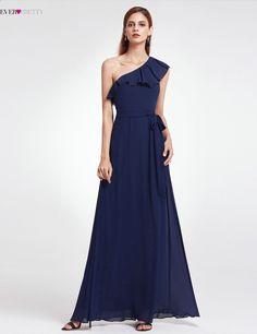 24d134357f 2018 szyfonu suknie druhna długie jedno ramię kiedykolwiek całkiem marki  elegancka sukienka kobiety na wesele vestido