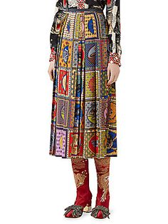 Gucci Pleated Tarot Card Skirt