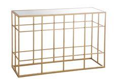 Console en verre et métal pour une entrée chic ! Golden Box, Console Design, Classy Closets, Deco Rose, Consoles, Decorative Boxes, Indoor, Shelves, Glass