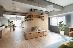 Apartamento distribuído por un único mueble | Decoración