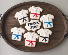 Karate Cookies 1 dozen by MJCookiesConfections on Etsy Baby Cookies, Cut Out Cookies, Royal Icing Cookies, Sugar Cookies, 10th Birthday Parties, 7th Birthday, Cookie Decorating, Decorating Tips, Karate Boy