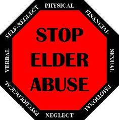 Stop Elder Abuse and Neglect!! Stiffer Laws and Harsher Penalties Needed ASAP. Save and Protect our Elderly.  RESPECT OUR ELDERS!! Get Involved Please!! Make changes for now and our future! Make your voice heard. If You want to see Change, it starts with you.