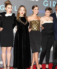 Glamour Girls: Miss Mamet, 24, who plays Shoshana on the show, was the most obviously transformed with freshly honey blonde hair (far left)