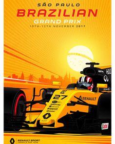"""Mi piace"": 10.5 mila, commenti: 39 - Renault Sport Formula One Team (@renaultsportf1) su Instagram: ""New Grand Prix, new poster! It's #BrazilGP week!"""