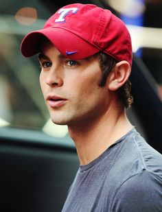 chace crawford... In a Texas rangers hat!<3