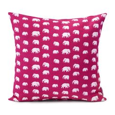Cushion Elefant Linen from Svensk Tenn: Estrid Ericson created the Elephant pattern in the Svenskt Tenn's textiles are printed by hand, mainly in Sweden, on 100 percent cotton or linen of the highest quality. Elephant Pattern, Daughters Room, Interior Design Companies, Textile Patterns, Textiles, Scandinavian Home, Marimekko, White Decor, Shanghai