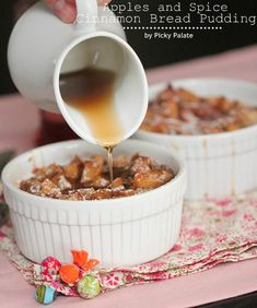 Apples and Spice Cinnamon Bread Pudding 5 text